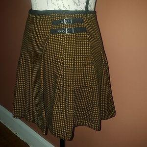Free People High waisted houndstooth mini skirt